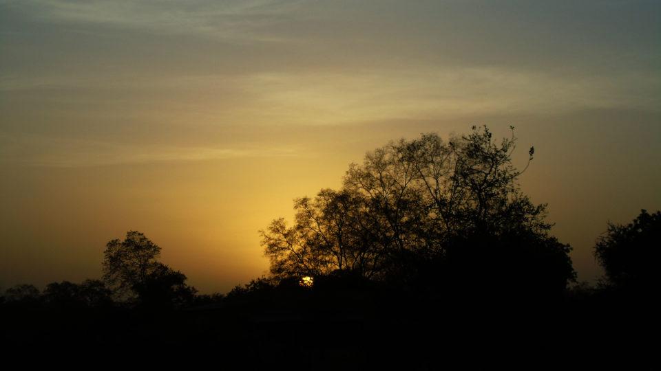 Vue d'un coucher de soleil dans le Parc National de Zakouma. Crédits photo: Yacoub